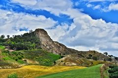 Landscape view of Calabria, in the Province of Crotone, Italy.  royalty free stock photography