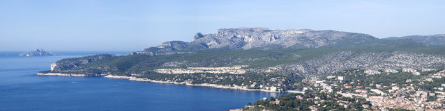 Landscape view of the Calanques National Park Royalty Free Stock Photography