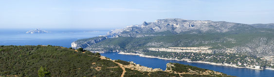 Landscape view of the Calanques National Park Stock Photo