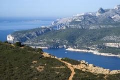 Landscape view of the Calanques National Park Stock Image