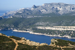 Landscape view of the Calanques National Park Royalty Free Stock Photo