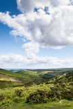 Landscape view of Cambrian Mountains, vertical. Scenic landscape view of Cambrian Mountains, Wales, UK Stock Photo