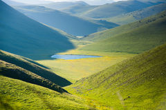 Landscape view of  Campo Imperatore plateau abruzzo italy Stock Photos