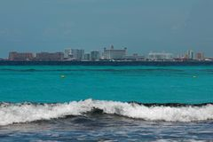 Landscape view of Cancun Mexico royalty free stock image