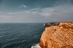 Cape Saint Vincent, Portugal stock images