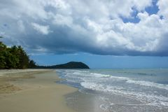 Landscape view of Cape Tribulation in Daintree National Park in the far tropical north of Queensland, Australia. Landscape view of Cape Tribulation in Daintree royalty free stock image