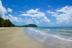 Landscape view of Cape Tribulation in Daintree National Park in the far tropical north of Queensland, Australia. Landscape view of Cape Tribulation in Daintree stock image