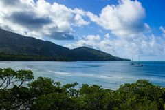 Landscape view of Cape Tribulation in Daintree National Park in the far tropical north of Queensland, Australia. Landscape view of Cape Tribulation in Daintree royalty free stock photography