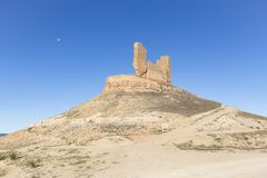 A view of the castle in Montuenga de Soria. Landscape with a view of the castle in Montuenga de Soria, province of Soria, Spain Royalty Free Stock Photos