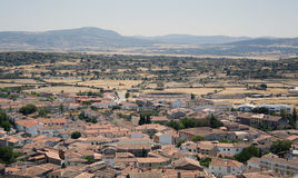Landscape view from the castle of Trujillo Spain Royalty Free Stock Photo
