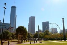 Centennial Olympic park landscape in Atlanta Georgia Stock Photography