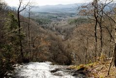 Landscape View of Chattahoochee National Forest from Amicalola Falls Georgia. Landscape winter scenic view of the Chattahoochee National Forest from the top of royalty free stock images