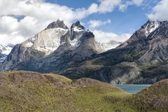 Landscape View in Chilean Patagonia Stock Image