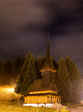 Landscape view with a church in the night Stock Photos