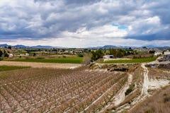 Landscape view of Cieza near Murcia in Spain stock photos