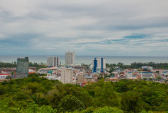 Landscape view of the city from above. Miri city, Borneo, Sarawak, Malaysia Stock Images
