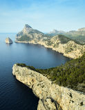 Landscape view from the cliff Cap de Formentor. Mallorca Cap de formentor sunset view Royalty Free Stock Image