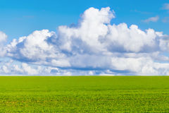 Landscape view with cloudy sky Royalty Free Stock Images