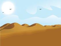 Landscape view of desert. Sand dunes Stock Images