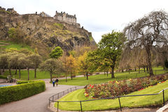 Landscape view of Edinburgh Castle Royalty Free Stock Photography