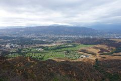 Landscape. View facing North from the Hollywood Sign Stock Photos