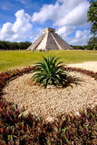 Landscape view of famous Chichen Itza pyramid Royalty Free Stock Photos