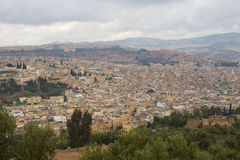 Landscape view of Fez, Morocco. Landscape view of the Medina of Fez, historic village of Morocco Stock Photos