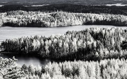 Landscape view in Finland royalty free stock photos