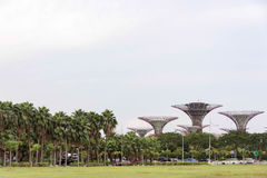 Landscape view of gardens by the bay stock photo