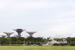 Landscape view of gardens by the bay stock photography
