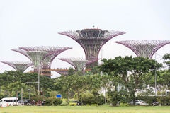 Landscape view of gardens by the bay stock photos