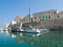 Landscape view of Giovinazzo seaport. Royalty Free Stock Photos