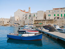 Landscape view of Giovinazzo seaport. Apulia. Royalty Free Stock Photography