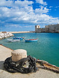 Landscape view of Giovinazzo touristic port. Apuli Stock Photo