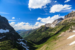 Landscape view in Glacier National Park at Logan Pass Stock Images