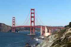Landscape view on Golden Gate bridge Stock Images