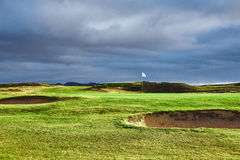 Landscape view of golf course In Iceland Stock Images