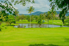 Landscape view of golf course at Thailand. Landscape view of golf course at Stock Images