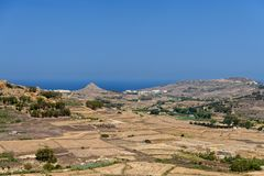 Landscape view on Gozo Island, Malta. Landscape view on Gozo Island Malta on a sunny summer day Royalty Free Stock Photography