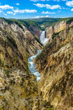 Landscape view at Grand canyon of Yellowstone, USA Royalty Free Stock Photos