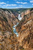 Landscape view at Grand canyon of Yellowstone, USA Royalty Free Stock Photography