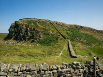 Landscape view on Hadrian wall Royalty Free Stock Photos