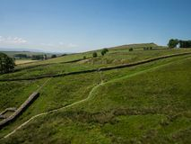 Landscape view on Hadrian wall Royalty Free Stock Photo