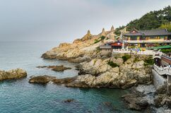 Landscape view of Haedong Yonggunsa Yonggung Buddhist Temple, Busan, south korea