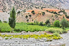 Landscape view of high Atlas Mountains, Morocco Stock Image