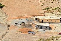 Landscape view of high Atlas Mountains, Morocco Royalty Free Stock Photos
