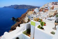 Landscape View In Santorini Stock Images