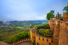 The landscape view and inner yard of Hohenzollern royalty free stock images