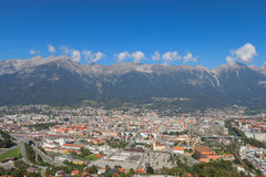 Landscape view of the Innsbruck city in Austria Stock Image