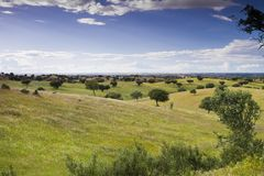 Scenic view of the Algarve stock image